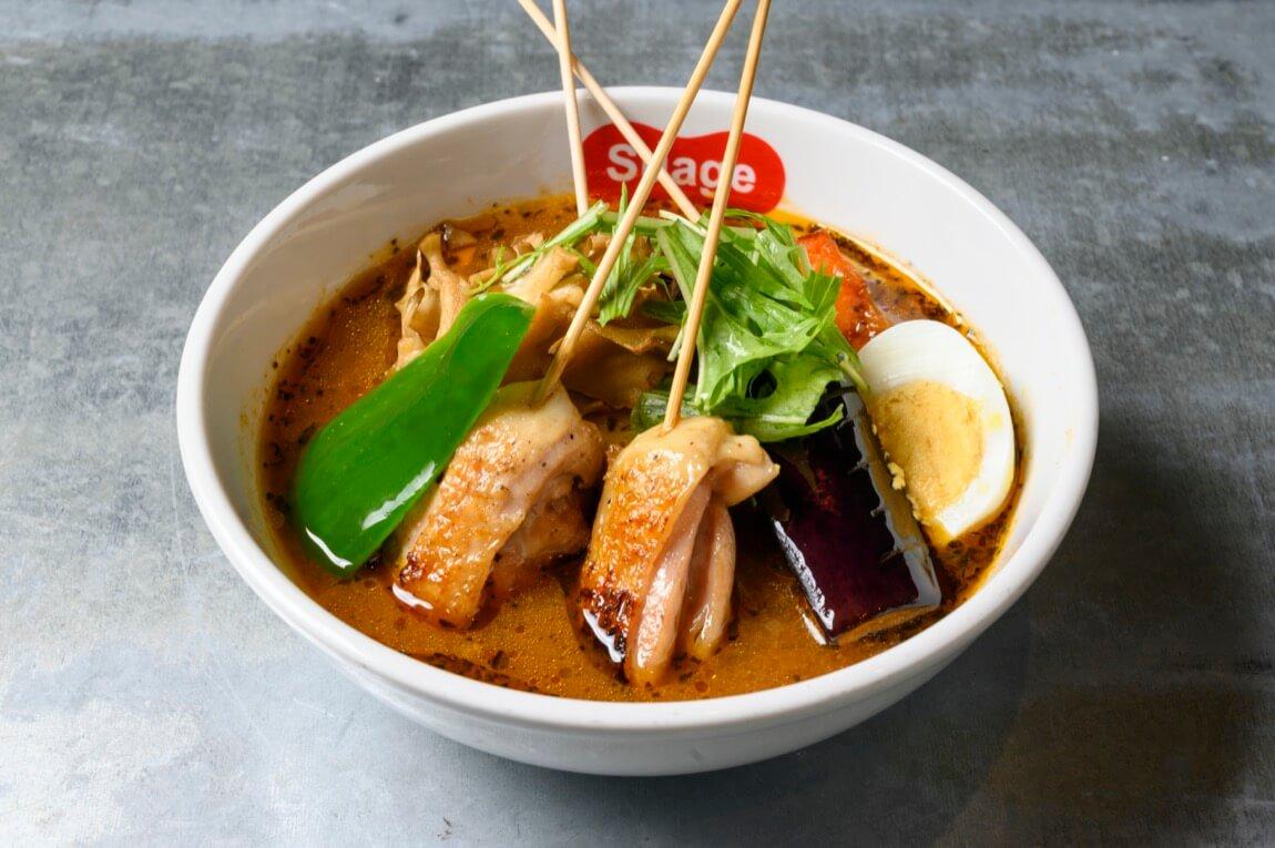 北海道スープカレーSuage パリパリ知床どりと野菜カレー